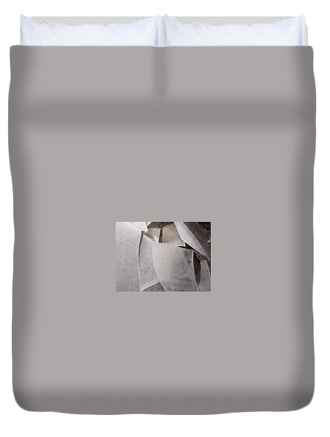 Ice Duvet Cover featuring the photograph ice by Wolfgang Schweizer