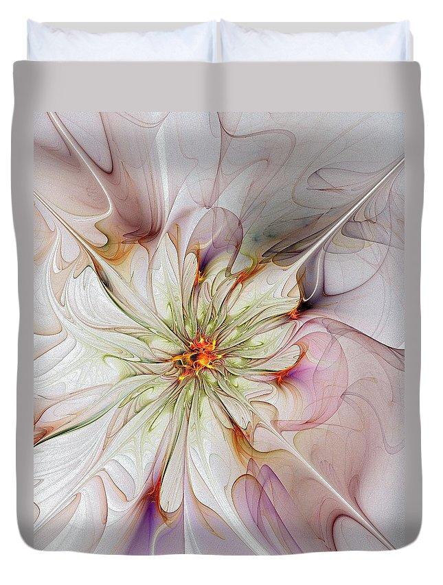 Digital Art Duvet Cover featuring the digital art In Full Bloom by Amanda Moore