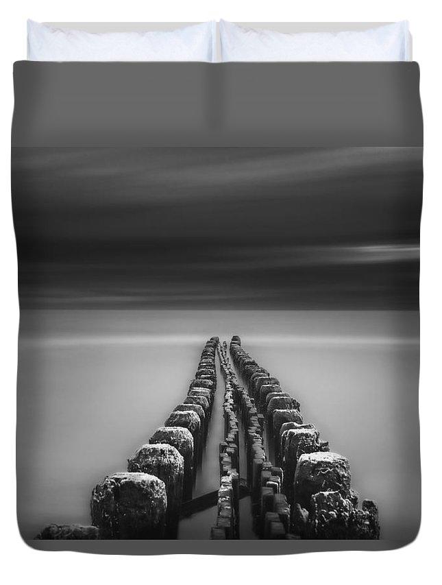 Marina Duvet Cover featuring the photograph Into Oblivion 2 by John Maslowski