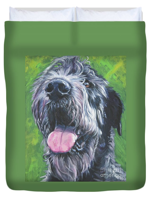 Irish Wolfhound Dog Duvet Cover featuring the painting Irish Wolfhound by Lee Ann Shepard