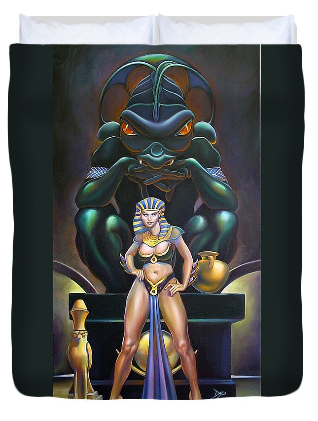 Mermaid Duvet Cover featuring the painting Isis And Osiris by Patrick Anthony Pierson