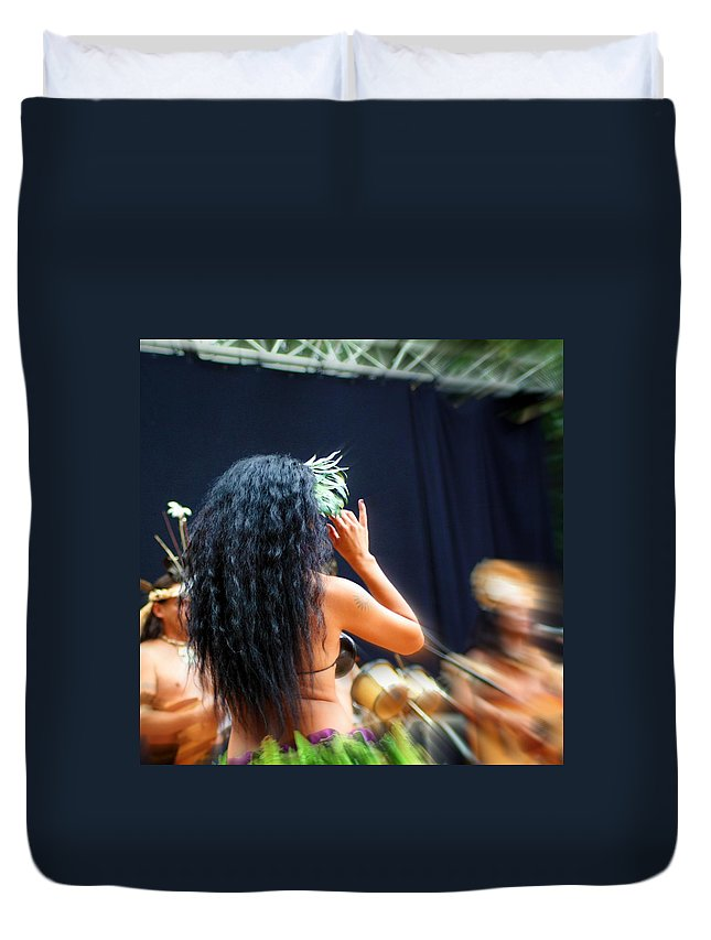 Beauty Duvet Cover featuring the photograph Island Beauty by Jo Hoden