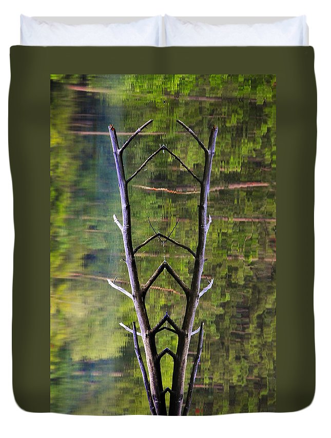 Photography Duvet Cover featuring the photograph Jacob's Ladder by Skip Hunt