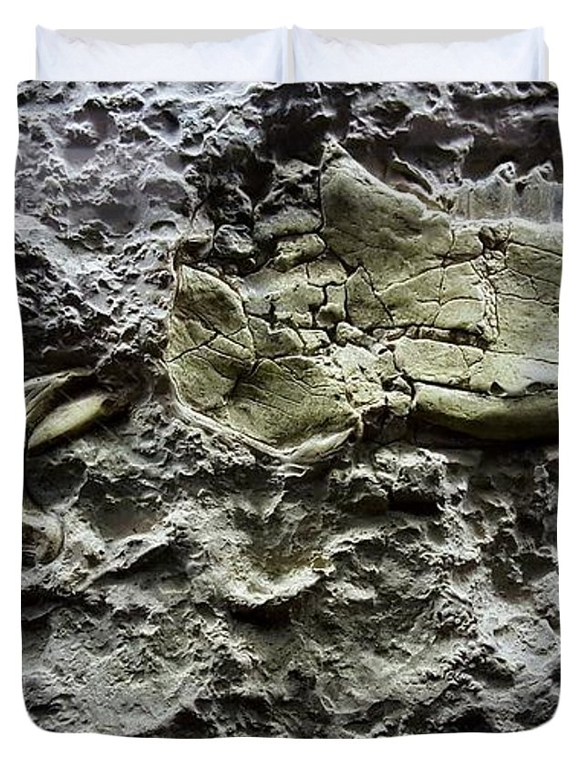 Fossil Duvet Cover featuring the photograph Jaw Bone by Rob Hans