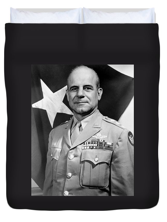General Doolittle Duvet Cover featuring the photograph Jimmy Doolittle by War Is Hell Store