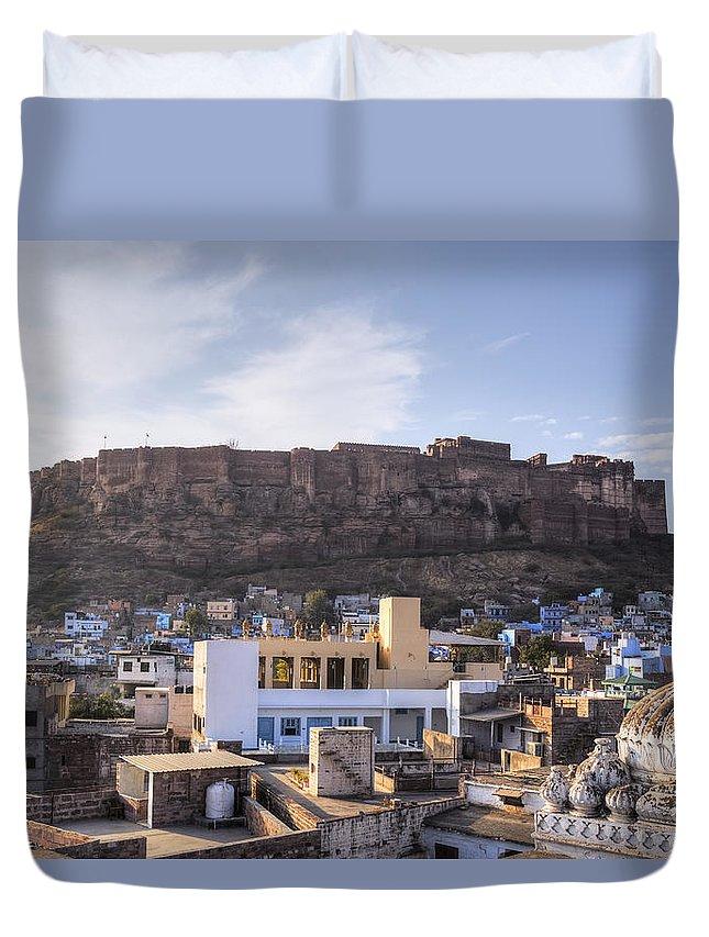Mehrangarh Fort Duvet Cover featuring the photograph Jodhpur - India by Joana Kruse