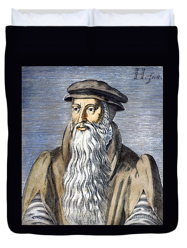 16th Century Duvet Cover featuring the photograph John Knox (1505-1572) by Granger