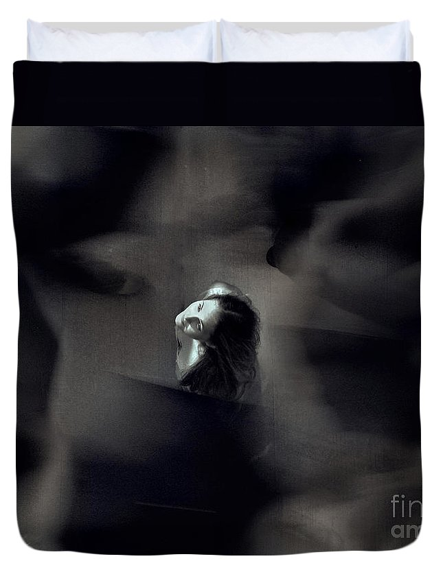 Street Duvet Cover featuring the photograph Just For Today I Will Not Be Afraid by Dana DiPasquale