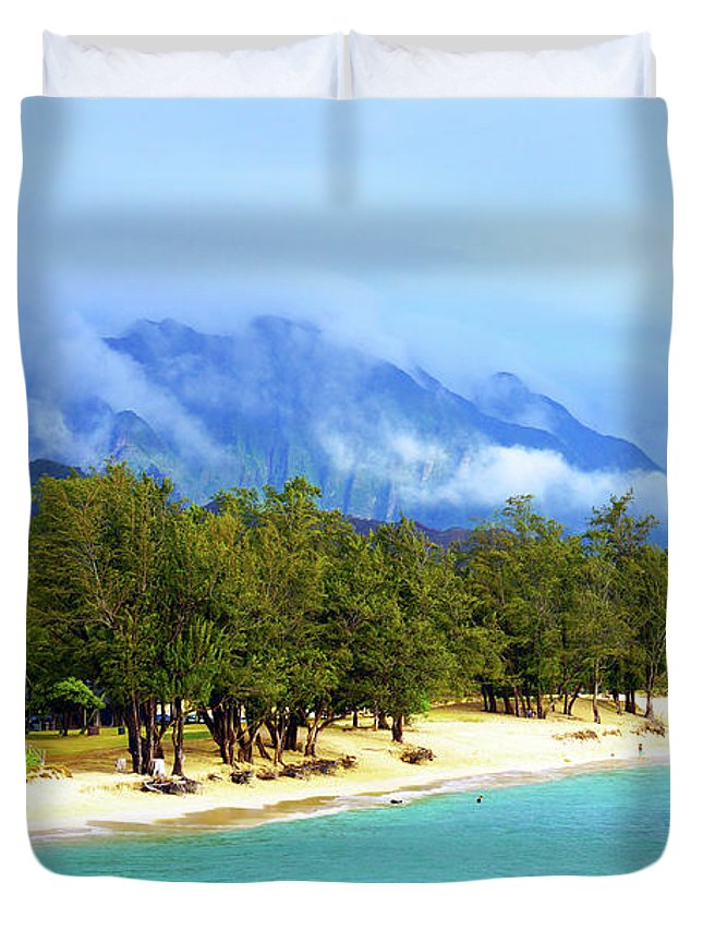 Kailua Beach Duvet Cover featuring the photograph Kailua Beach Hawaii by Kevin Smith