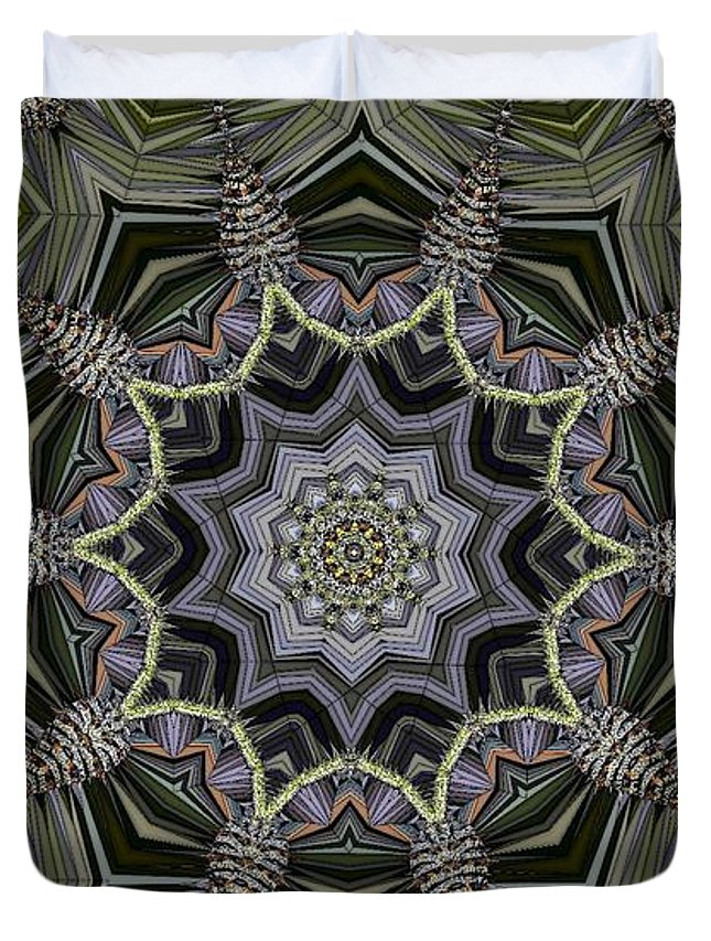 Kaleidoscope Duvet Cover featuring the digital art Kaleidoscope 96 by Ron Bissett