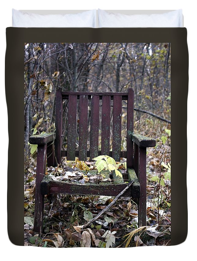Chair Duvet Cover featuring the photograph Keven's Chair by Pat Purdy