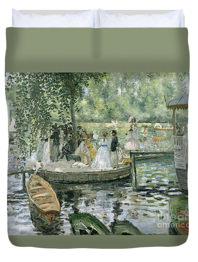 Grenouillere Duvet Cover featuring the painting La Grenouillere by Pierre Auguste Renoir