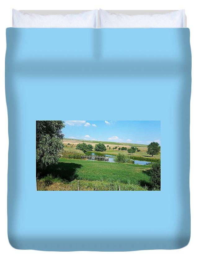 Lake Duvet Cover featuring the photograph Lake by Mihai Bardan