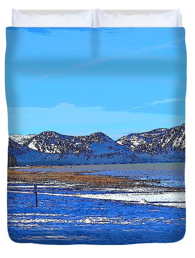 Lake Tahoe Duvet Cover featuring the photograph Lake Tahoe by Christina McNee-Geiger