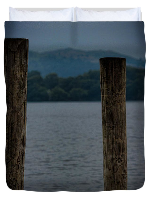 Lake Duvet Cover featuring the photograph Lake Windermere Cumbria by Martin Newman
