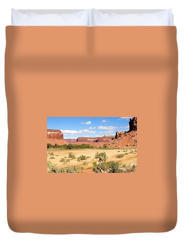 Canyon Lands Duvet Cover featuring the photograph Land Of Canyons by David Lee Thompson