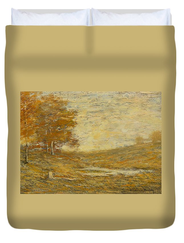 John Francis Murphy(american Duvet Cover featuring the painting Landscape by John Francis