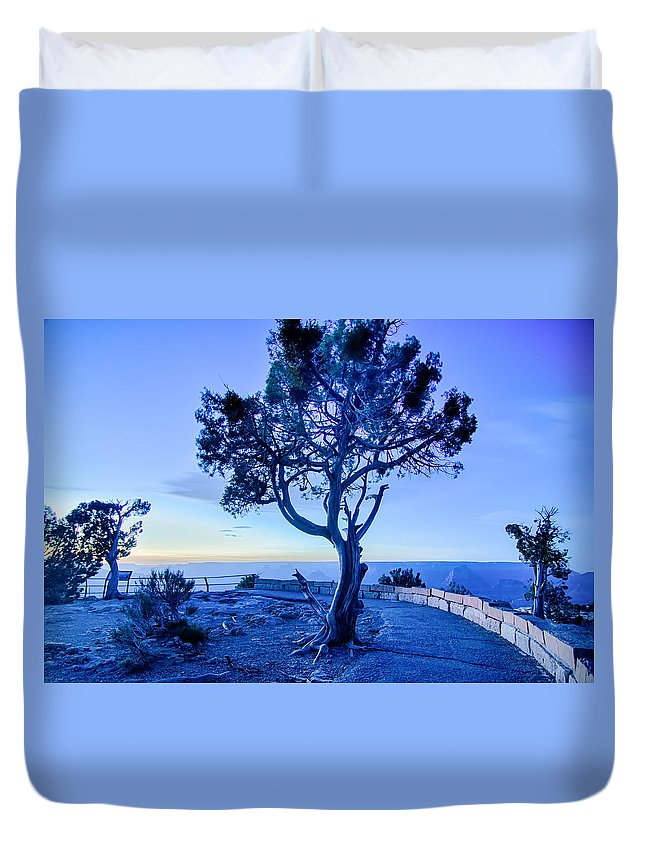 Canyon Duvet Cover featuring the photograph Landscapes At Grand Canyon Arizona by Alex Grichenko