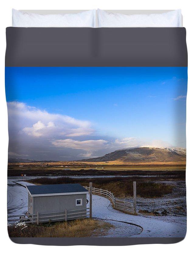 Glacier Duvet Cover featuring the photograph Langjokull Glacier by Stephen Settles