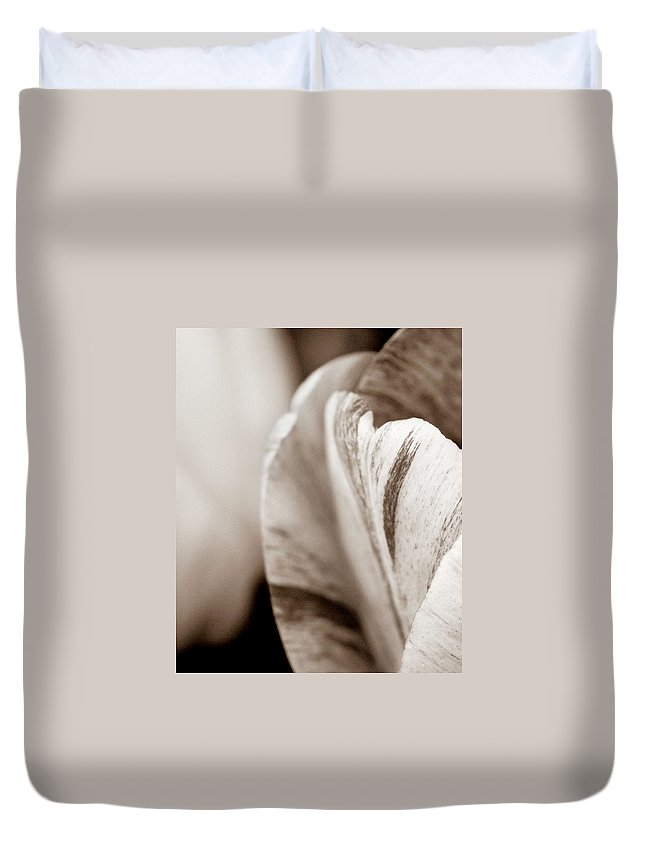 Tulip Duvet Cover featuring the photograph Layers Of Tulips by Marilyn Hunt