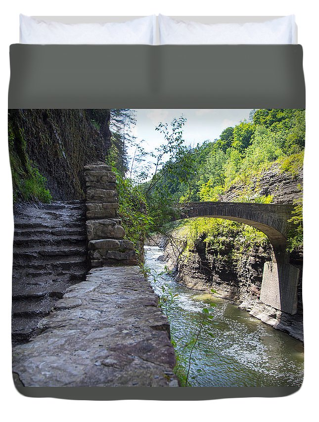 Letchworth State Park Duvet Cover featuring the photograph Letchworth State Park by Kristian Jensen