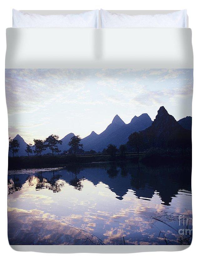 Asian Art Duvet Cover featuring the photograph Li River by Rita Ariyoshi - Printscapes