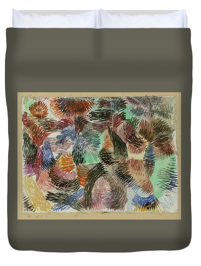 Paul Klee Libido Of The Forest Duvet Cover featuring the painting Libido Of The Forest by Paul Klee