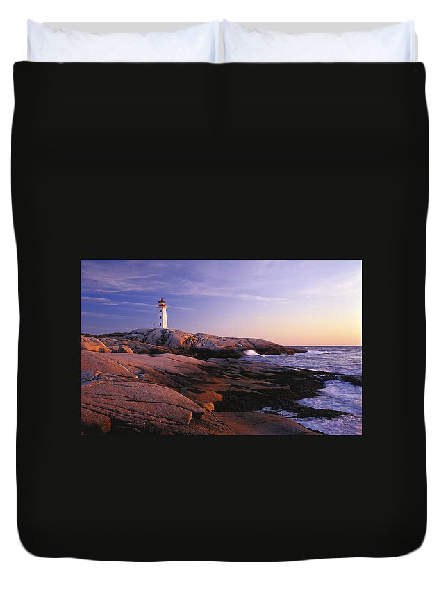 Lighthouse Duvet Cover featuring the digital art Lighthouse by Bert Mailer