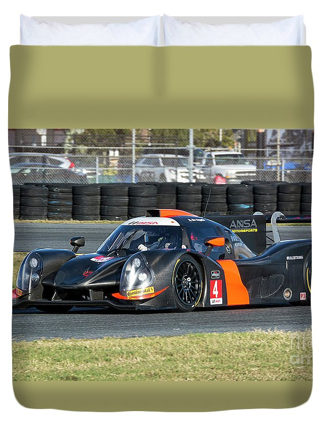 Automobile Duvet Cover featuring the photograph Ligier Js P3 Le Mans Prototype 3 Lmp3 by Tad Gage