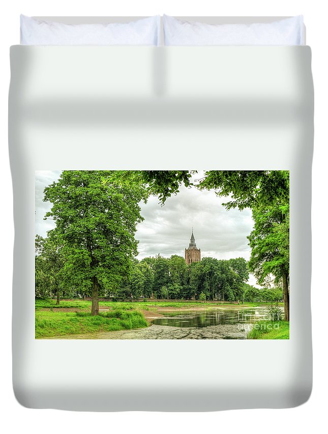 Linge Dutch Duvet Cover featuring the photograph Linge Route by Brothers Beerens