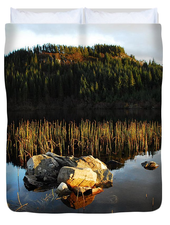 Loch Lundie Duvet Cover featuring the photograph Loch Lundie by Smart Aviation