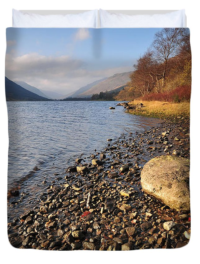 Loch Voil Duvet Cover featuring the photograph Loch Voil by Smart Aviation