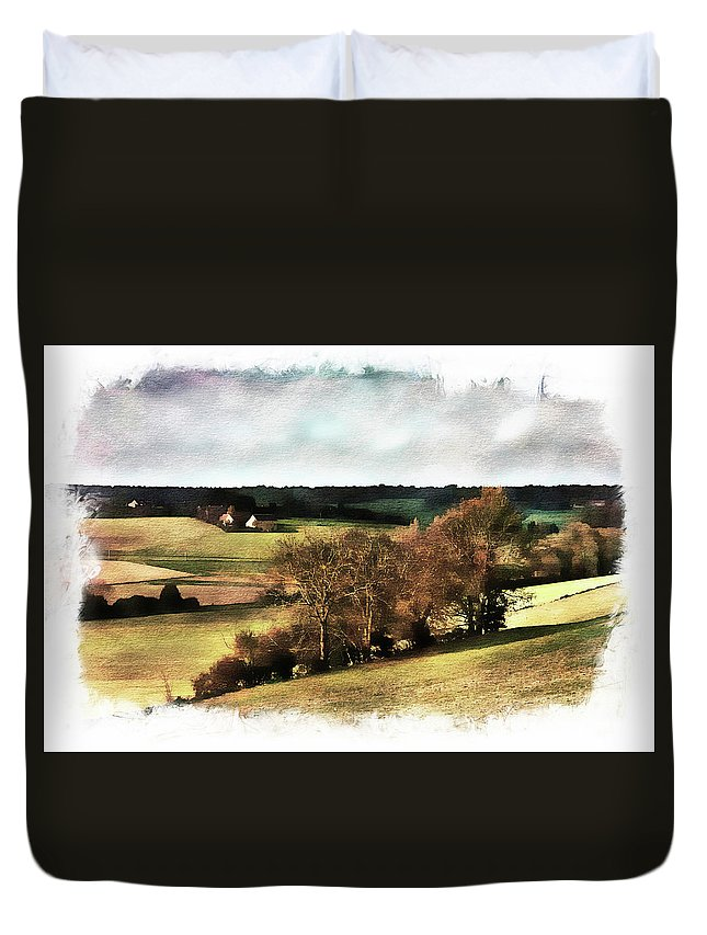 Loire Duvet Cover featuring the photograph Loire Valley by Hugh Smith