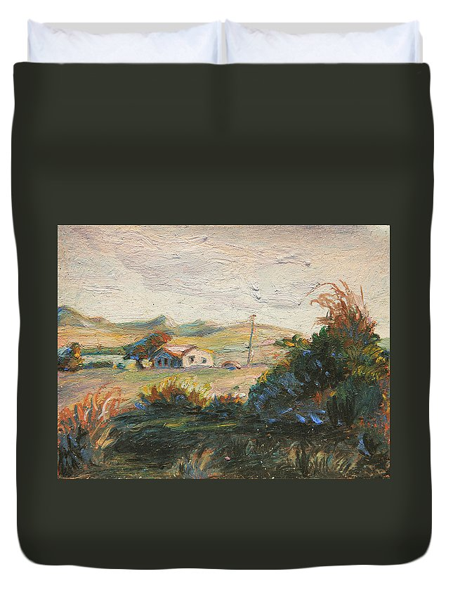 Duvet Cover featuring the painting Los Osos by John Matthew