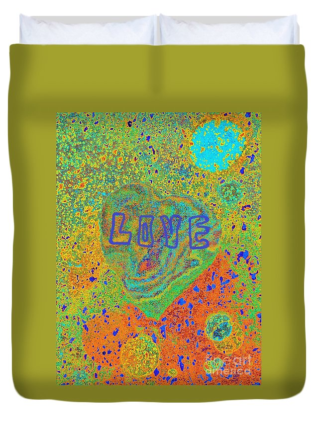 Love Duvet Cover featuring the photograph Love by Jasna Gopic