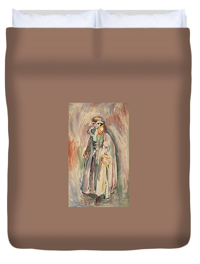 Karsten Duvet Cover featuring the painting Ludvig by MotionAge Designs