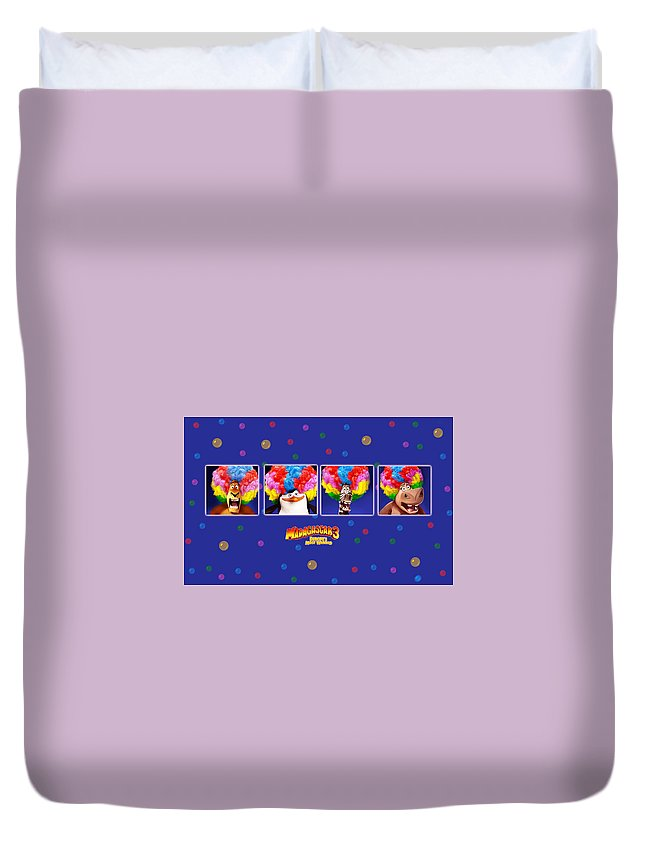 Madagascar 3 Europe's Most Wanted Duvet Cover featuring the digital art Madagascar 3 Europe's Most Wanted by Maye Loeser