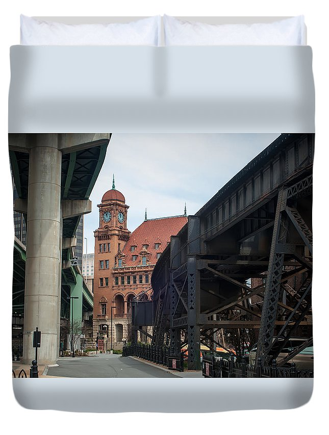 Crowded Duvet Cover featuring the photograph Main Street Station - Richmond Va by Alex Grichenko