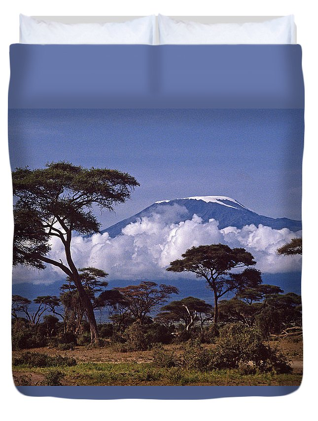 Africa Duvet Cover featuring the photograph Majestic Mount Kilimanjaro by Michele Burgess