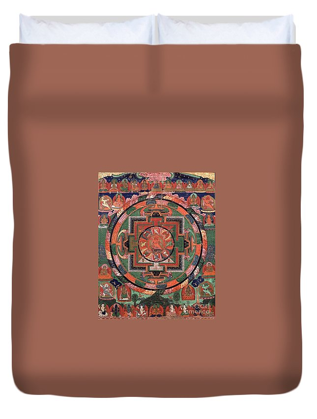 Witchcraft Duvet Cover featuring the digital art Mandala by Frederick Holiday