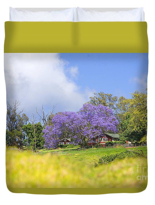 Afternoon Duvet Cover featuring the photograph Maui Upcountry by Ron Dahlquist - Printscapes