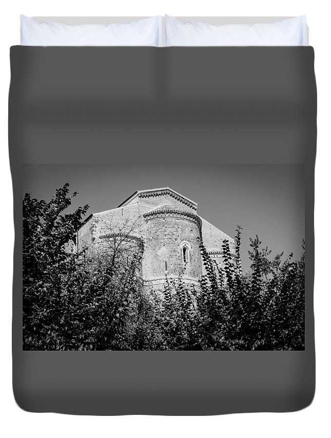 Abbey Duvet Cover featuring the photograph Medieval Abbey - Fossacesia - Italy 6 by Andrea Mazzocchetti