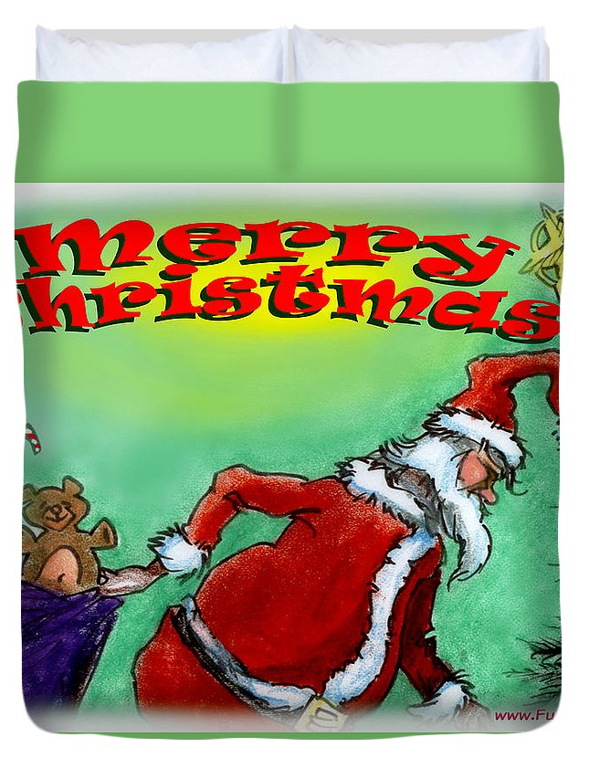 Christmas Duvet Cover featuring the digital art Merry Christmas by Kevin Middleton