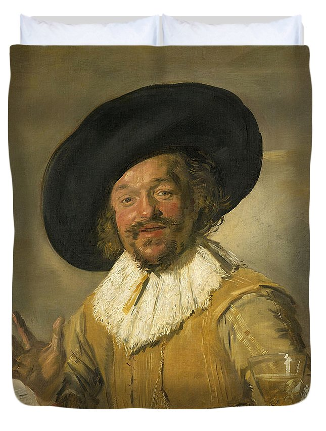 Baroque Duvet Cover featuring the painting Merry Drinker by Frans Hals