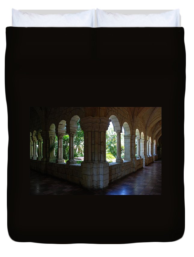 Architecture Duvet Cover featuring the photograph Miami Monastery by Rob Hans
