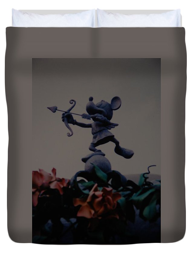Micky Mouse Duvet Cover featuring the photograph Mickey Mouse by Rob Hans