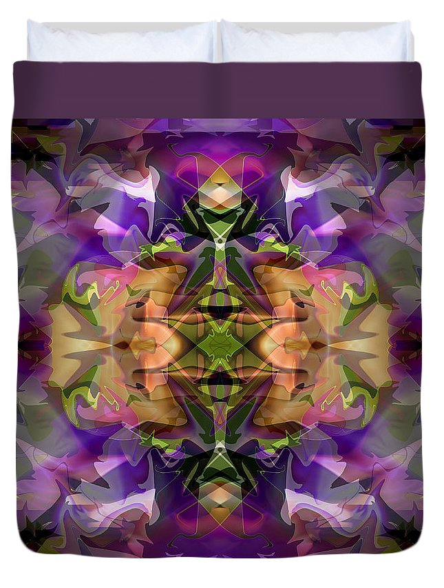 Abstract Duvet Cover featuring the digital art Mind Portal by Lynda Lehmann