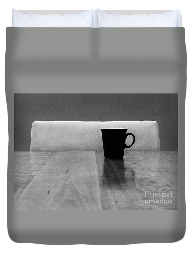 Black Duvet Cover featuring the photograph Missing by Dana DiPasquale