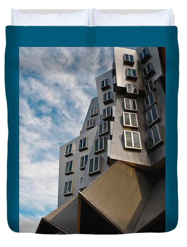 Architecture Duvet Cover featuring the photograph MIT by Donna Shahan