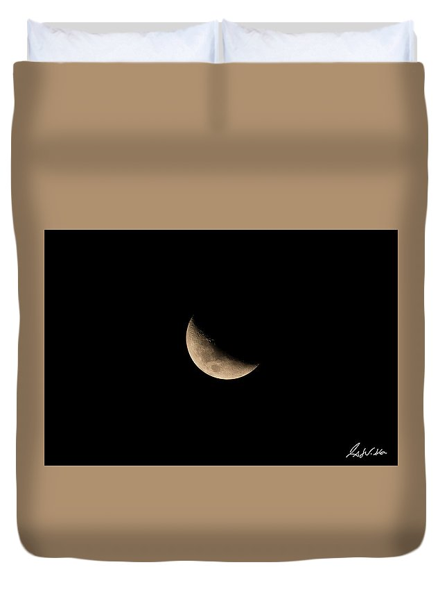 Closeup Duvet Cover featuring the photograph Moon by Fabio Seda